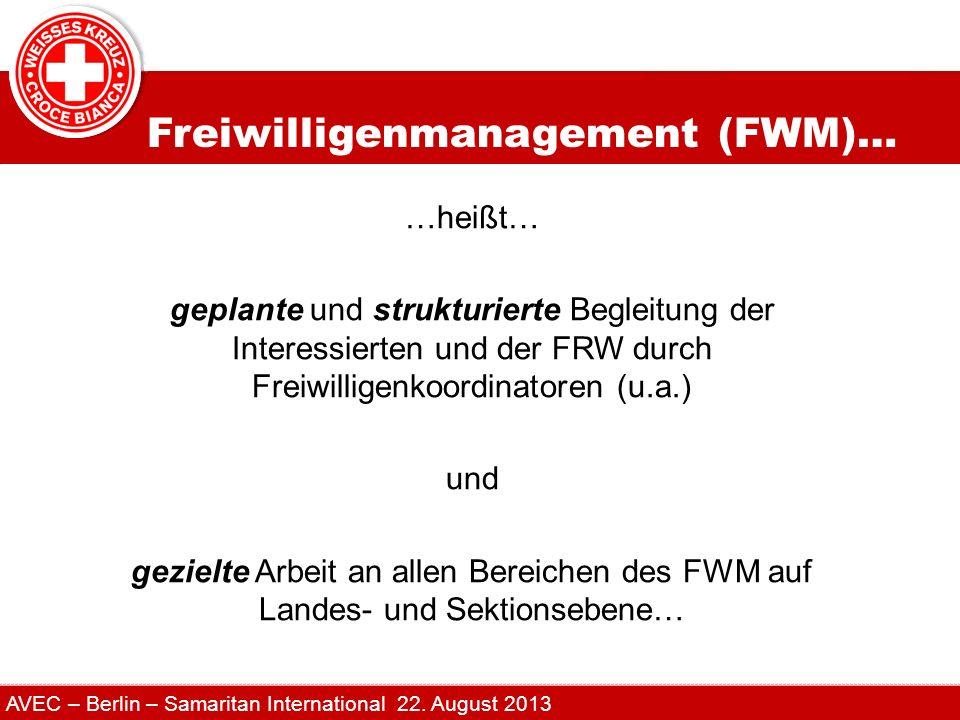 Freiwilligenmanagement (FWM)…