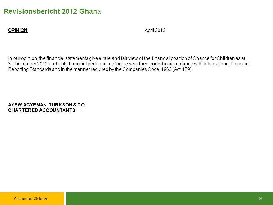 Revisionsbericht 2012 Ghana