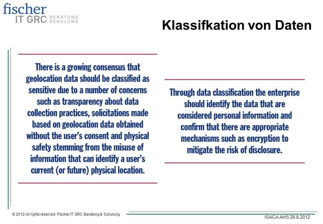 Klassifkation von Daten