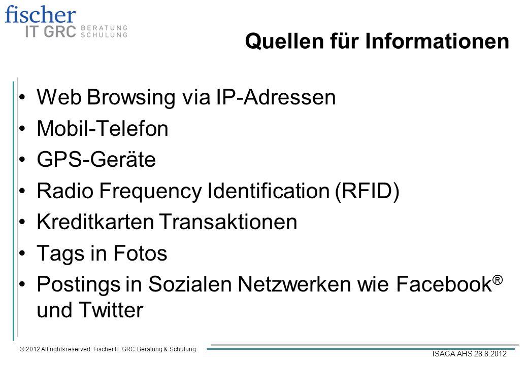 Quellen für Informationen