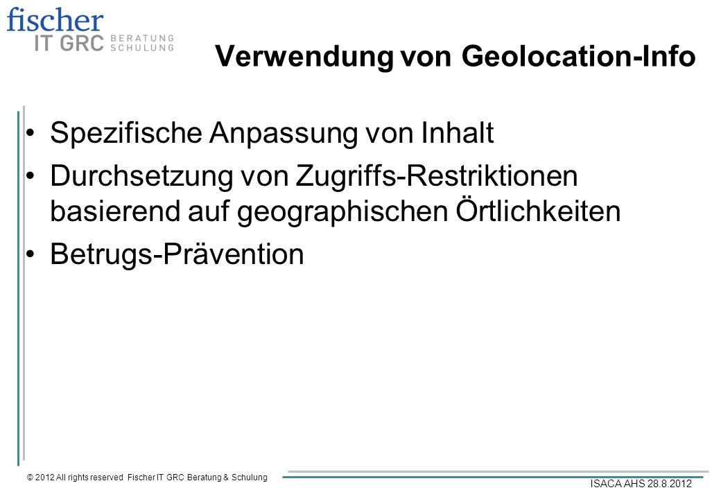 Verwendung von Geolocation-Info