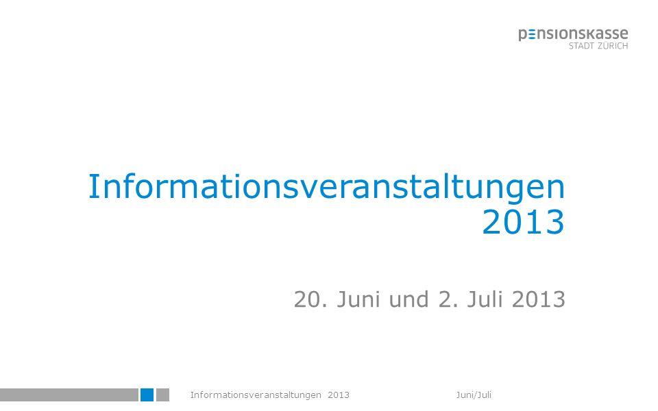 Informationsveranstaltungen 2013