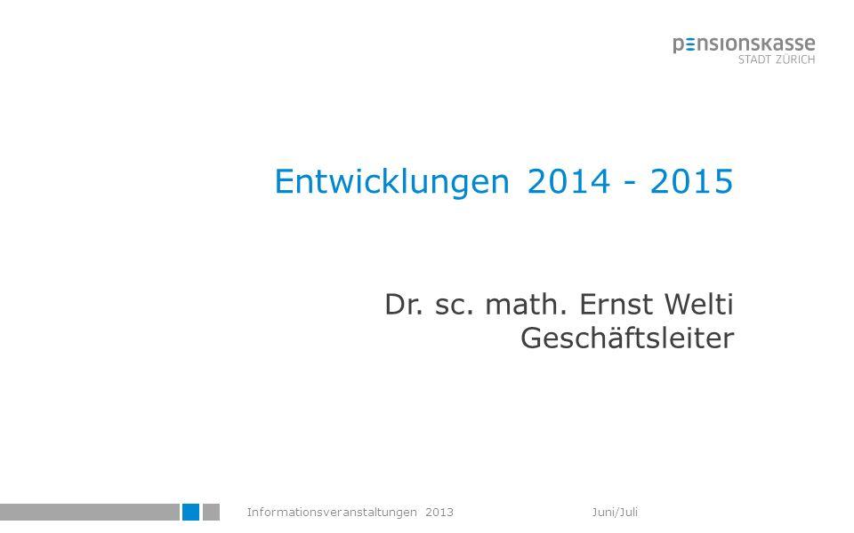 Dr. sc. math. Ernst Welti Geschäftsleiter