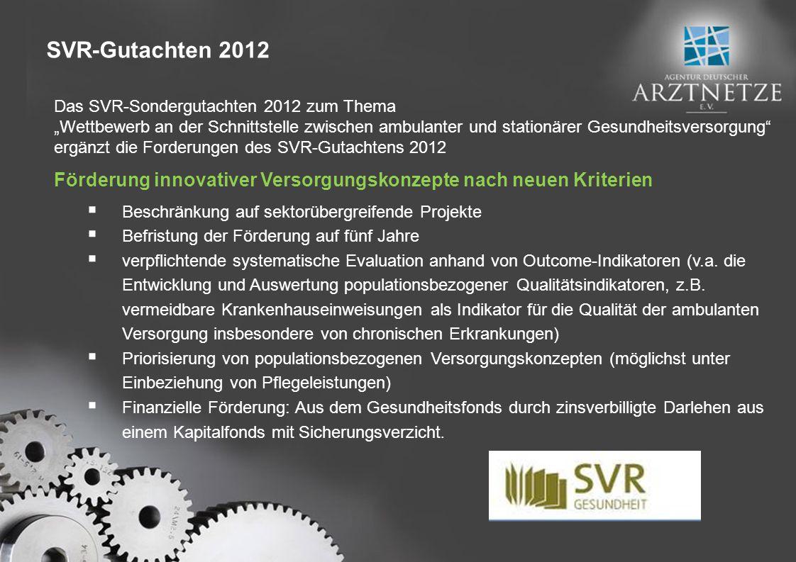 SVR-Gutachten 2012 Das SVR-Sondergutachten 2012 zum Thema.