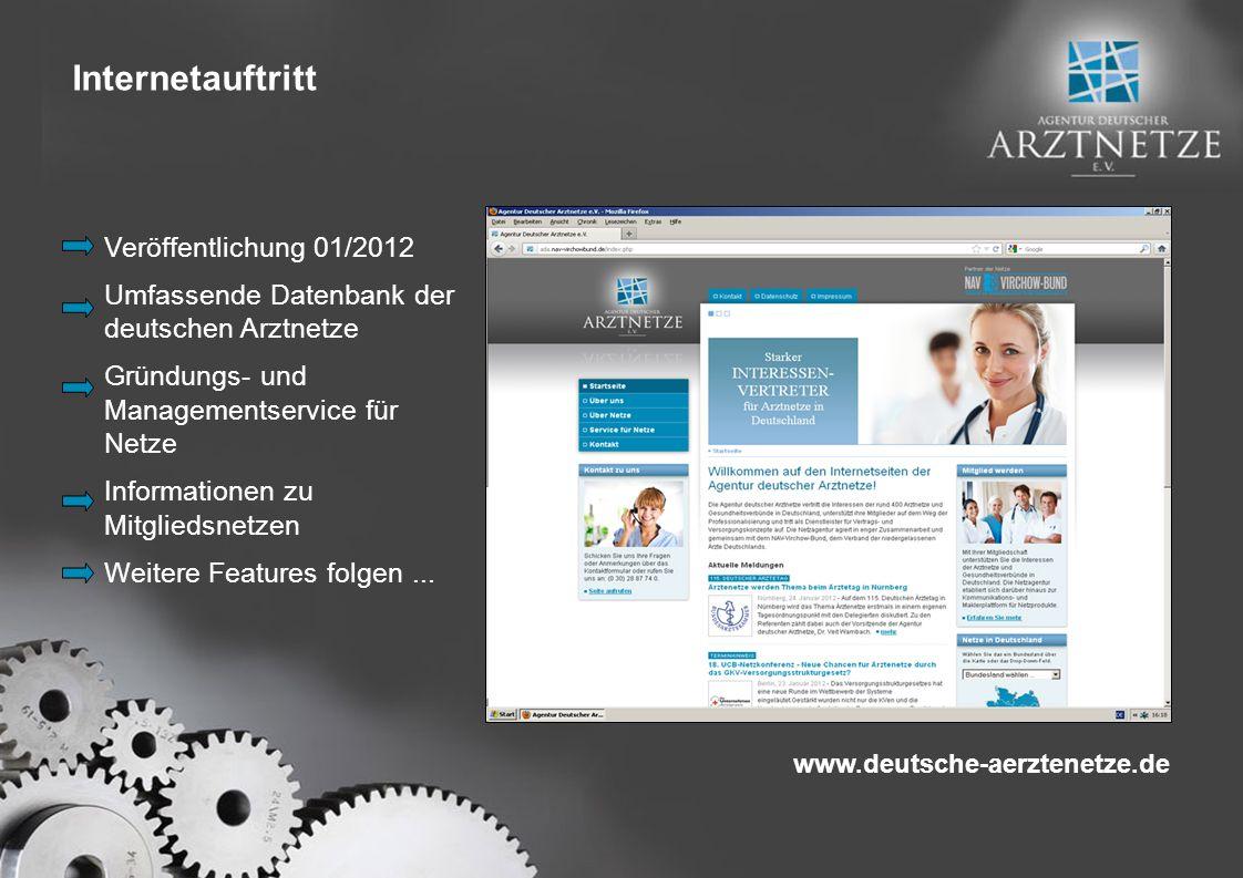 Internetauftritt Veröffentlichung 01/2012