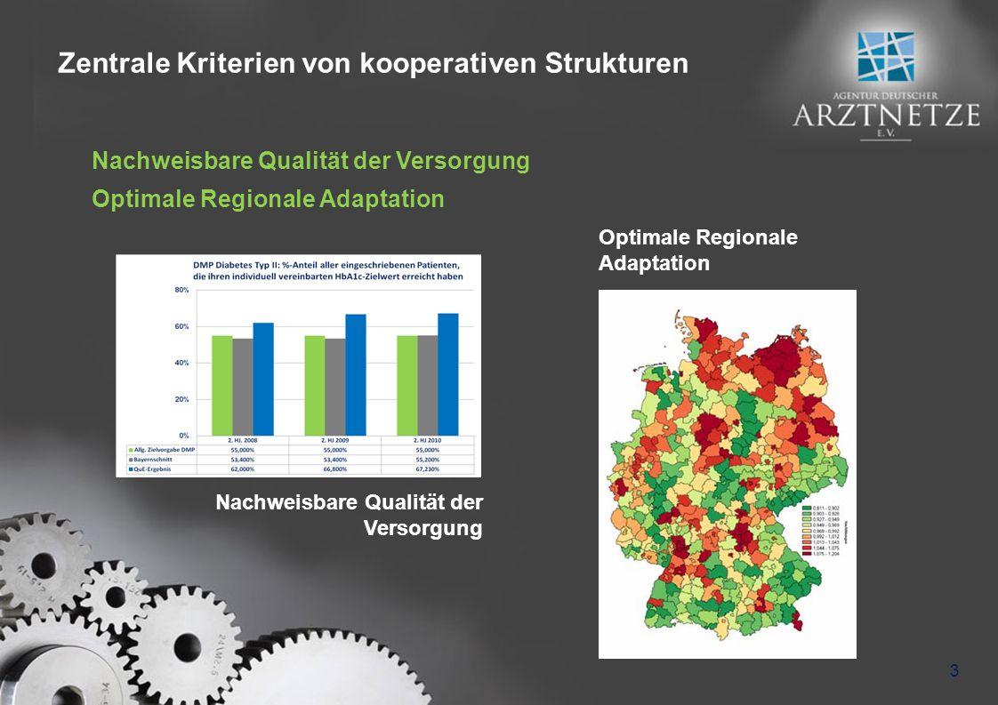 Zentrale Kriterien von kooperativen Strukturen