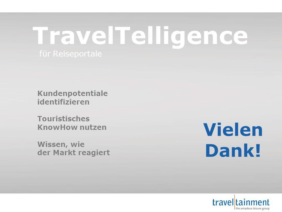 TravelTelligence Vielen Dank! für Reiseportale Kundenpotentiale