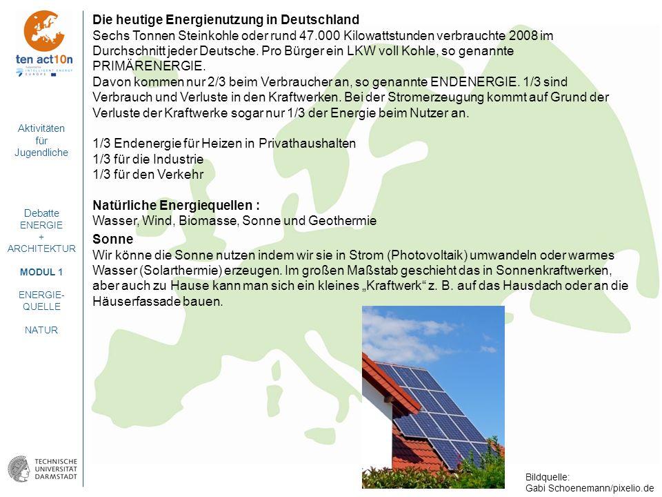 Die heutige Energienutzung in Deutschland