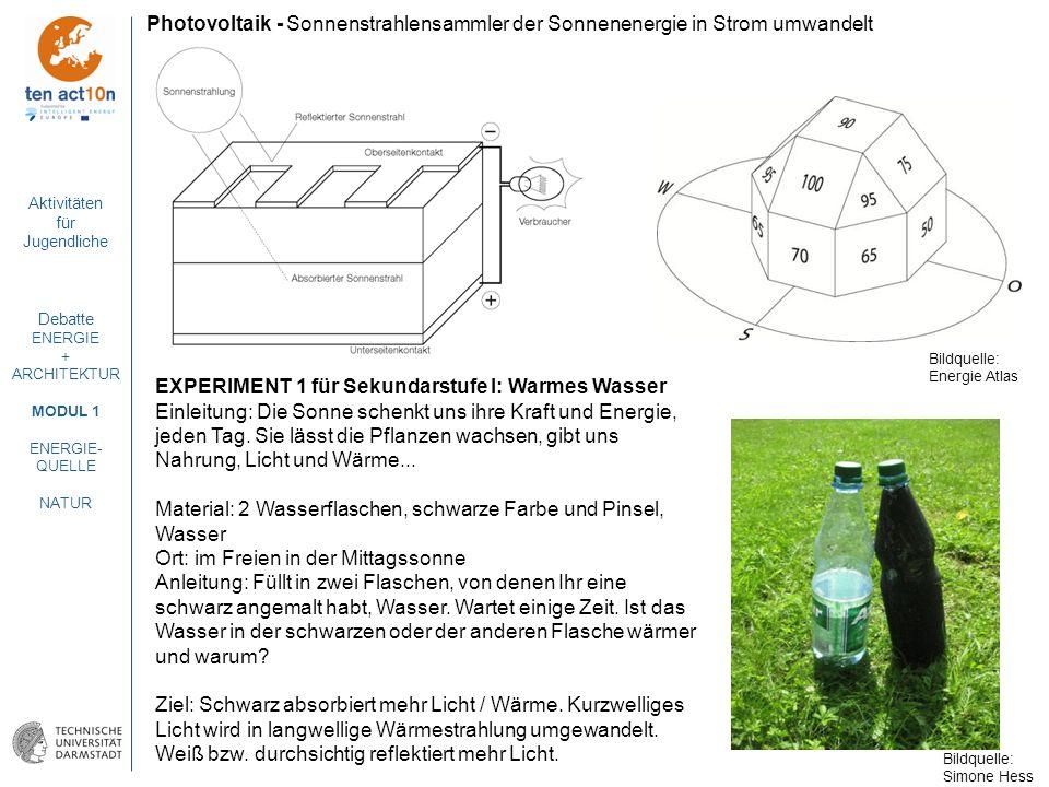 EXPERIMENT 1 für Sekundarstufe I: Warmes Wasser