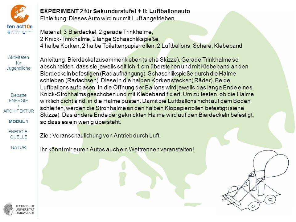 EXPERIMENT 2 für Sekundarstufe I + II: Luftballonauto