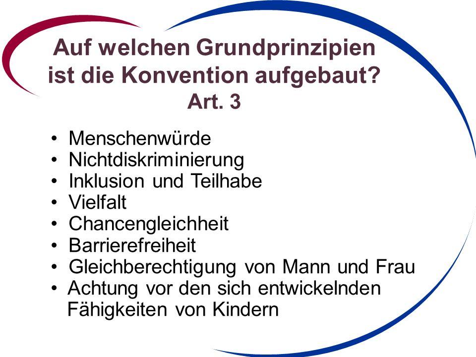 Auf welchen Grundprinzipien ist die Konvention aufgebaut Art. 3