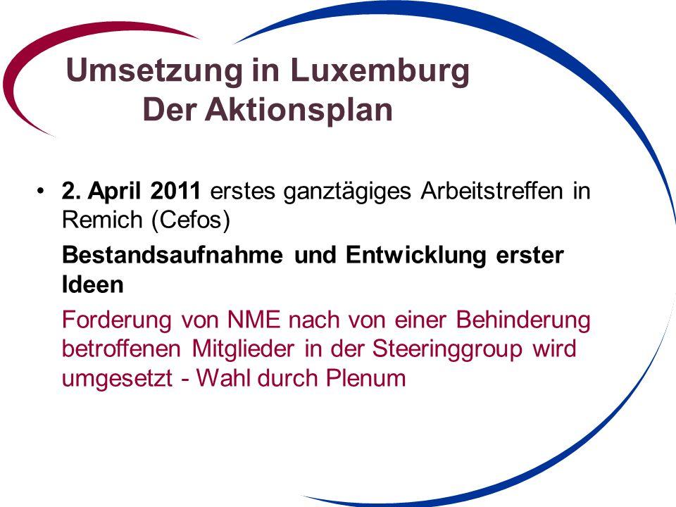 Umsetzung in Luxemburg Der Aktionsplan
