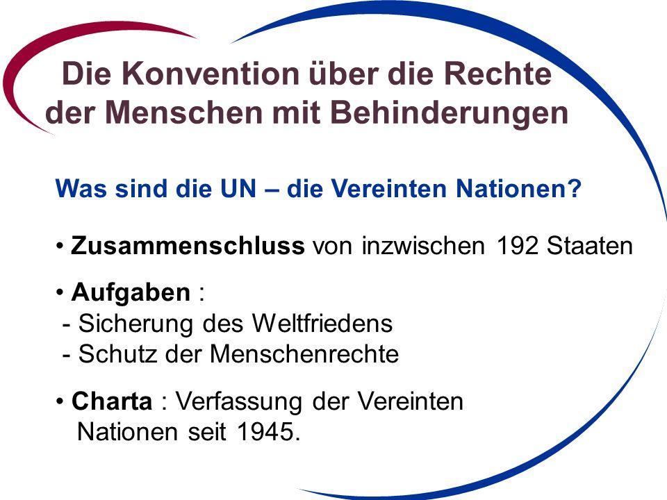 Die Konvention über die Rechte der Menschen mit Behinderungen