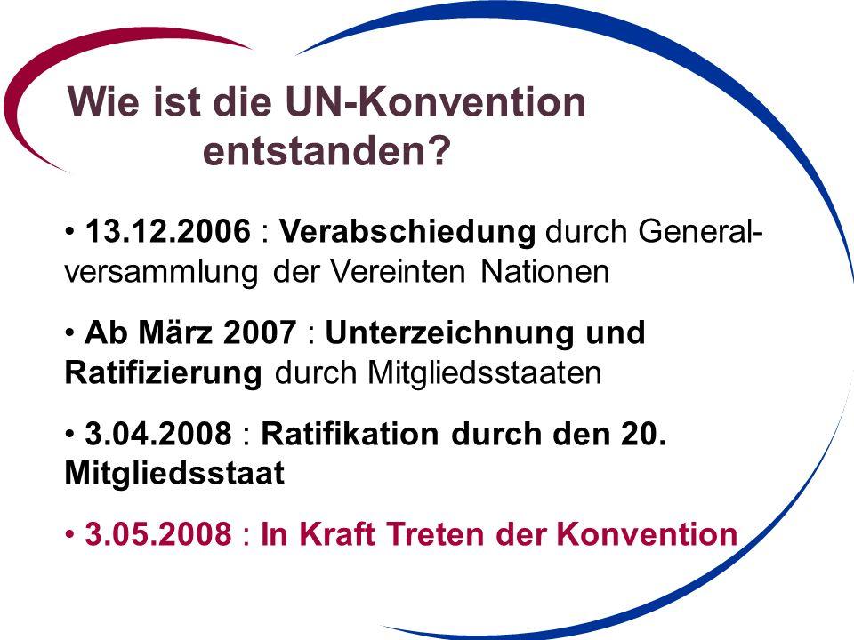 Wie ist die UN-Konvention entstanden