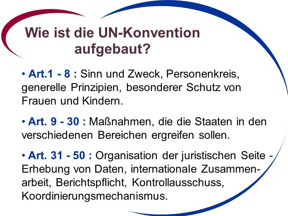 Wie ist die UN-Konvention aufgebaut