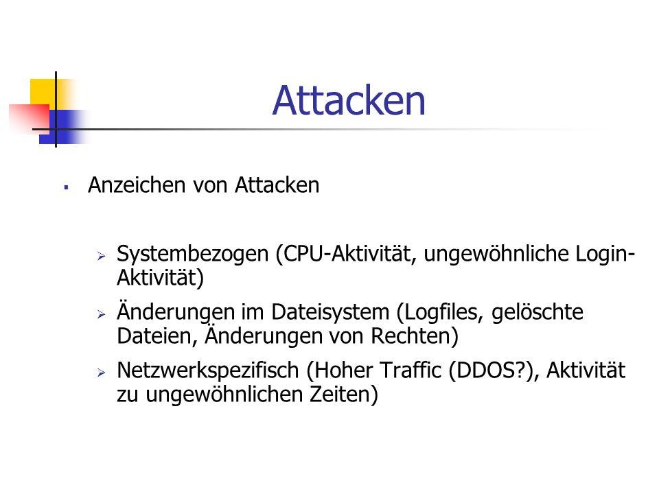 Attacken Anzeichen von Attacken