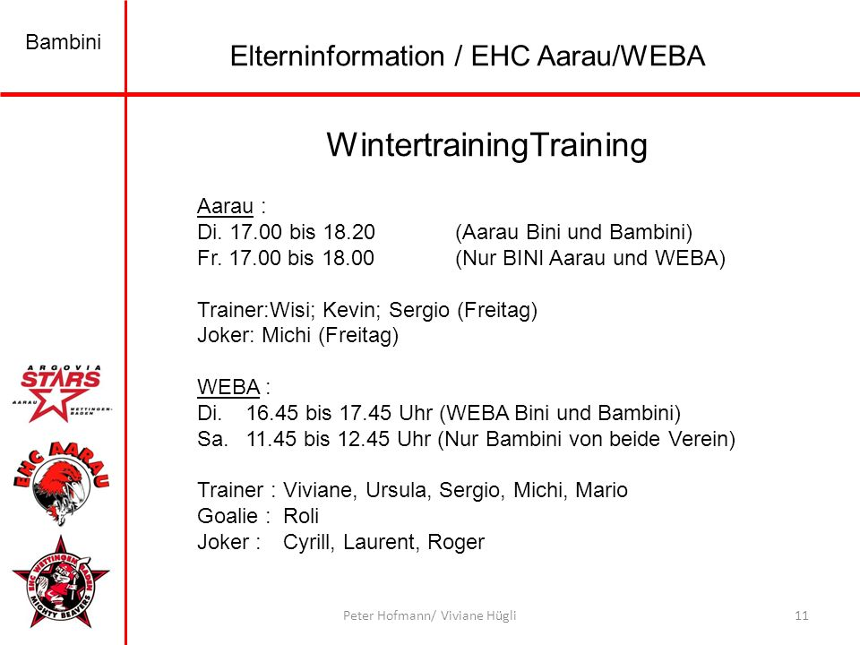WintertrainingTraining