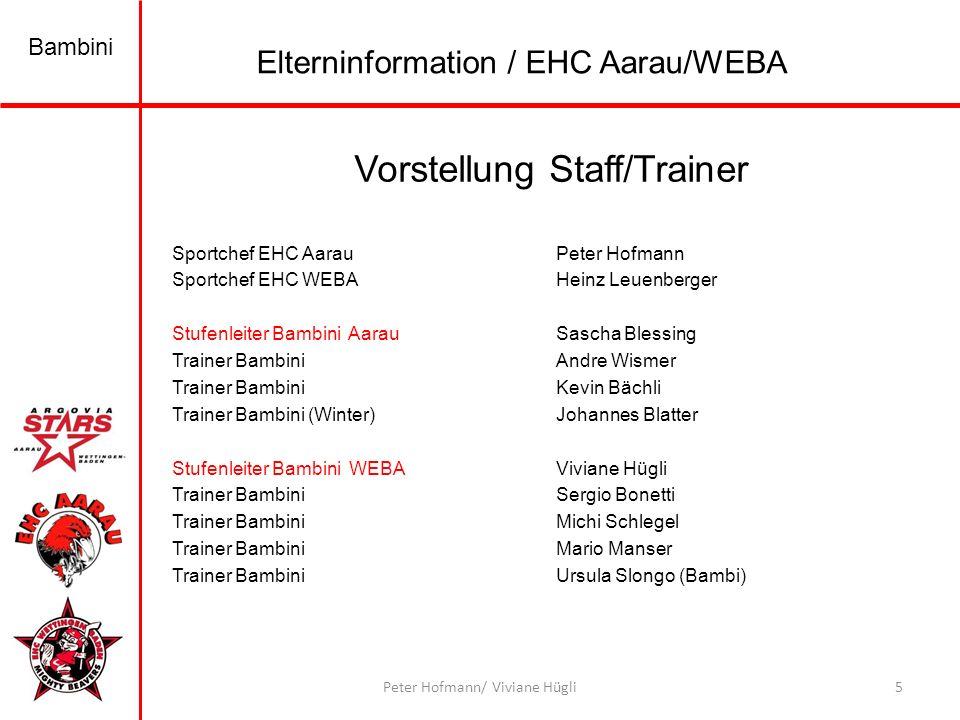 Vorstellung Staff/Trainer