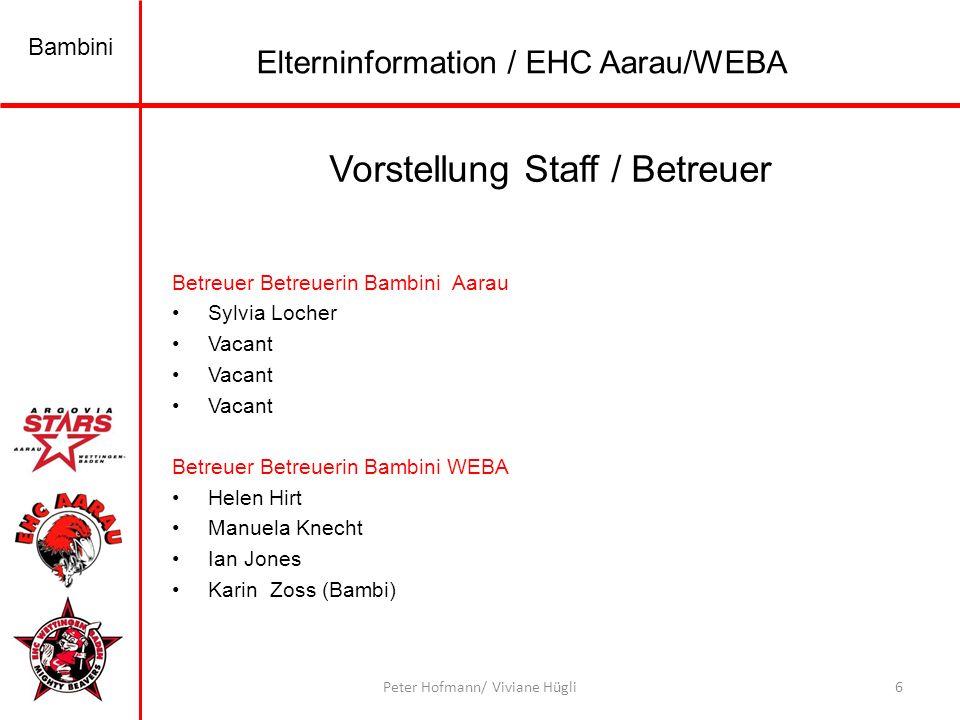 Vorstellung Staff / Betreuer