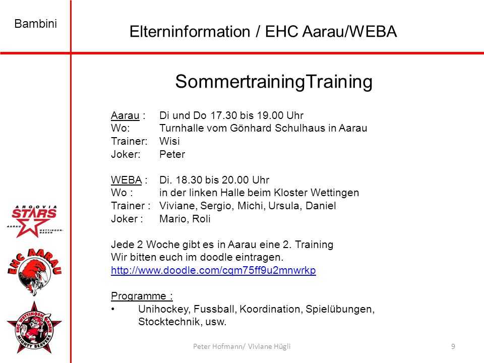 SommertrainingTraining