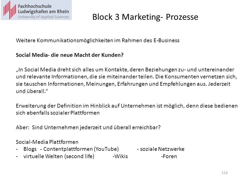 Block 3 Marketing- Prozesse