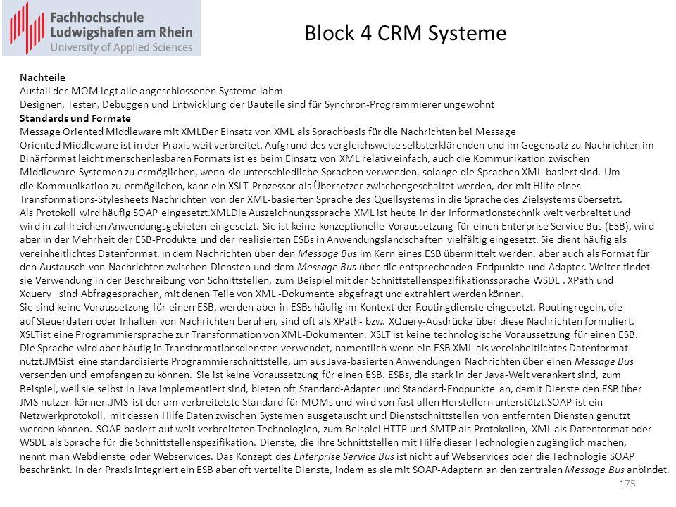 Block 4 CRM Systeme Nachteile