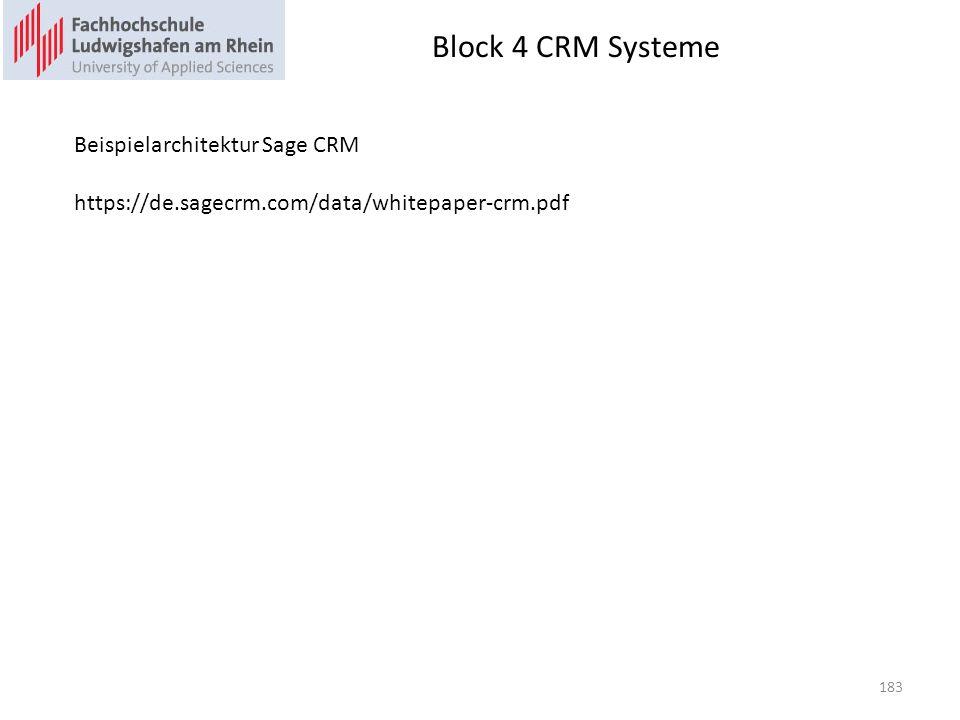Block 4 CRM Systeme Beispielarchitektur Sage CRM