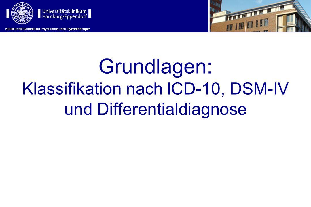 Grundlagen: Klassifikation nach ICD-10, DSM-IV