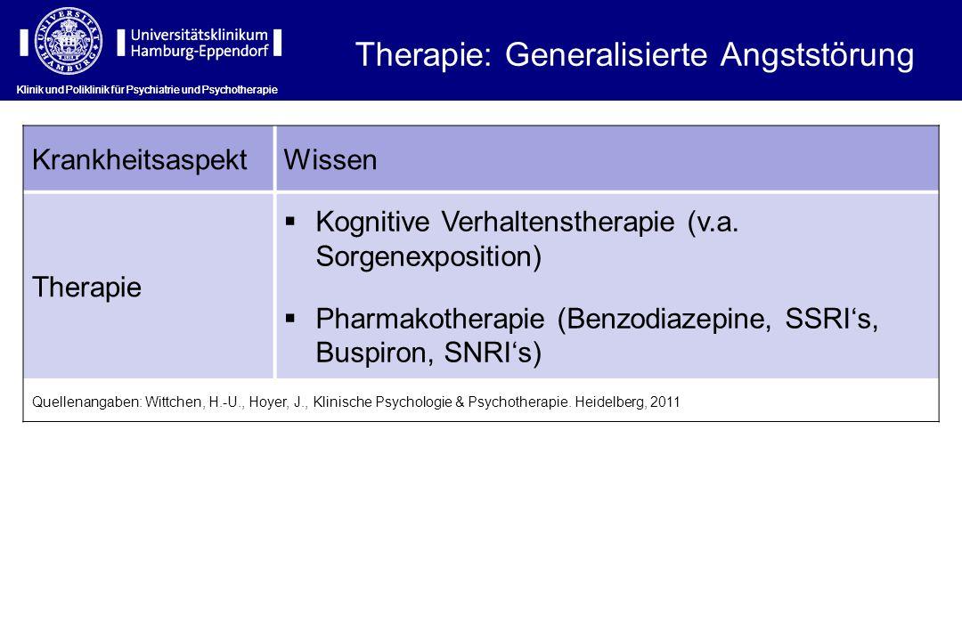 Therapie: Generalisierte Angststörung