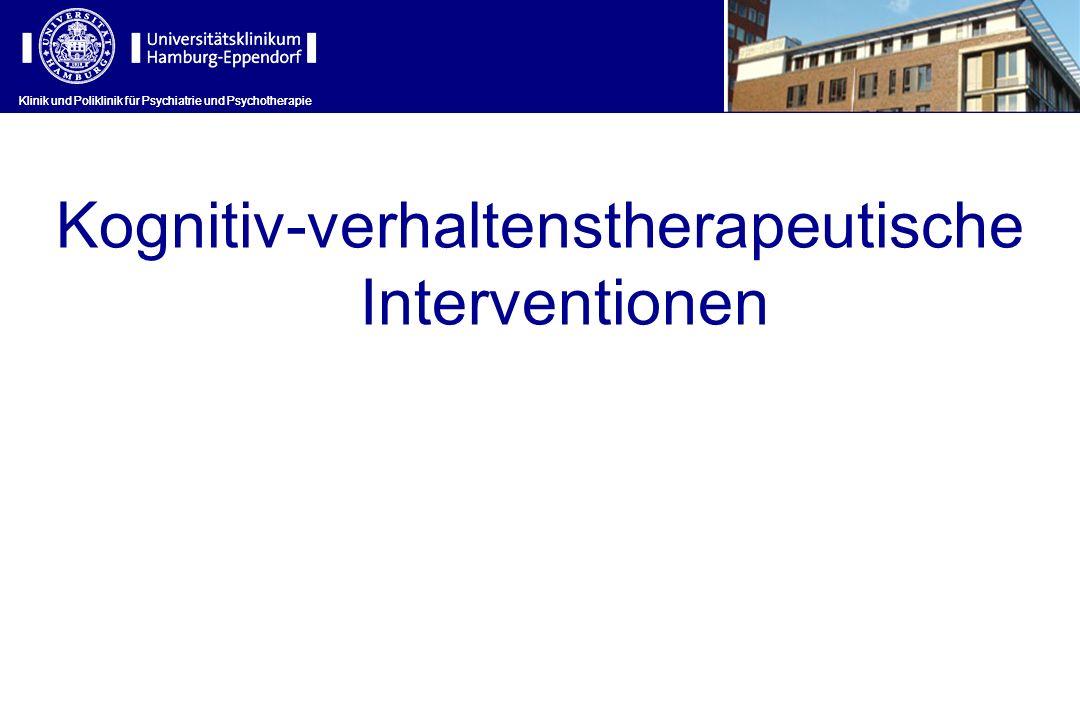 Kognitiv-verhaltenstherapeutische Interventionen
