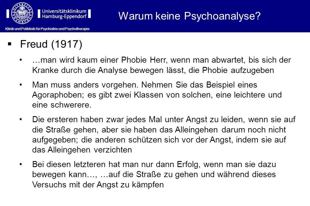 Warum keine Psychoanalyse