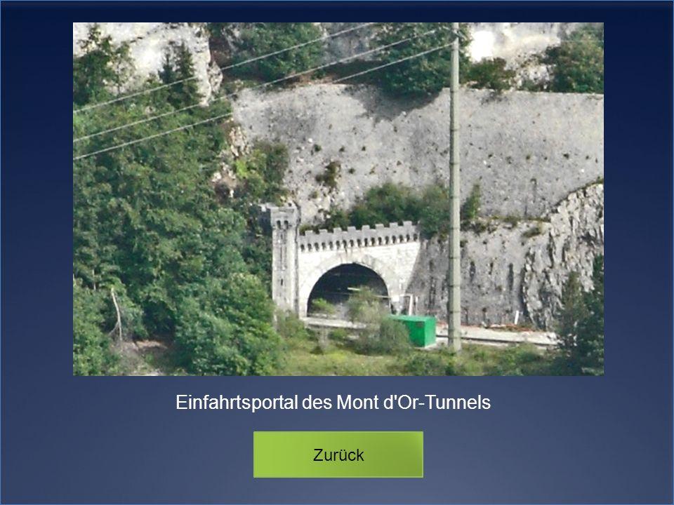 Einfahrtsportal des Mont d Or-Tunnels