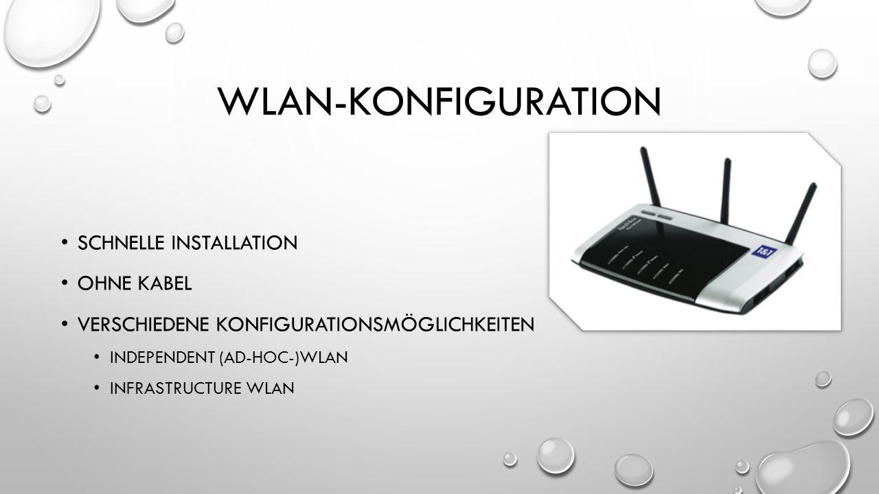 Wlan-konfiguration Schnelle Installation Ohne Kabel