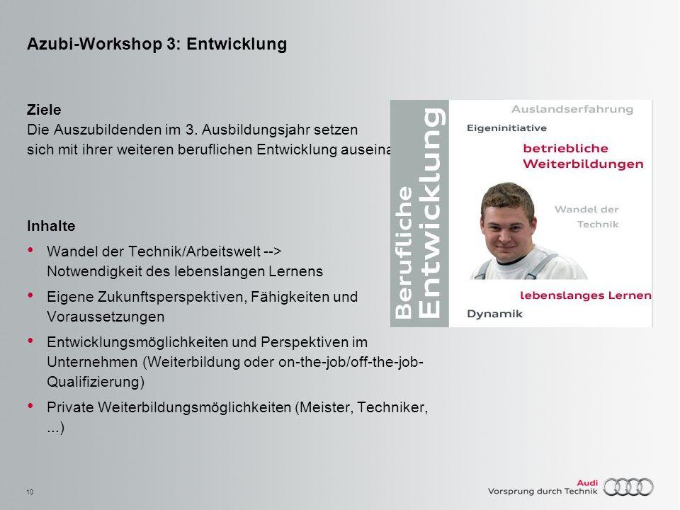 Azubi-Workshop 3: Entwicklung