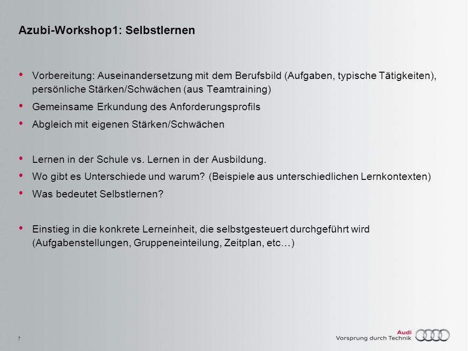 Azubi-Workshop1: Selbstlernen