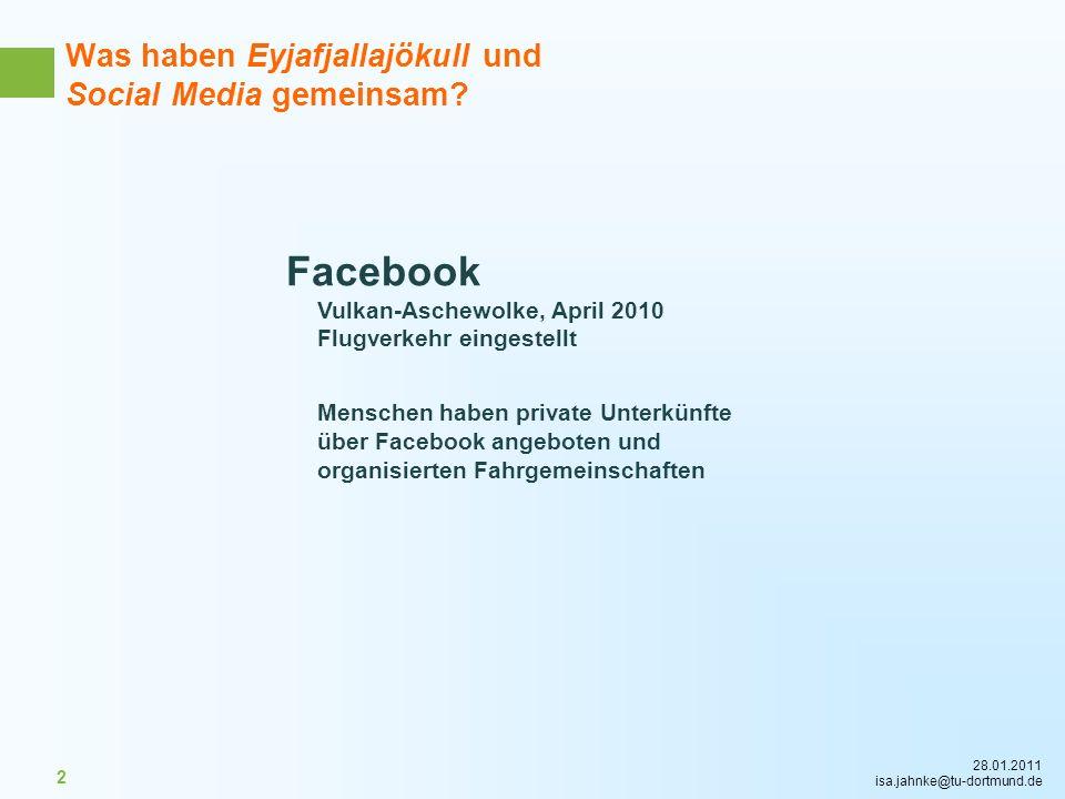 Was haben Eyjafjallajökull und Social Media gemeinsam
