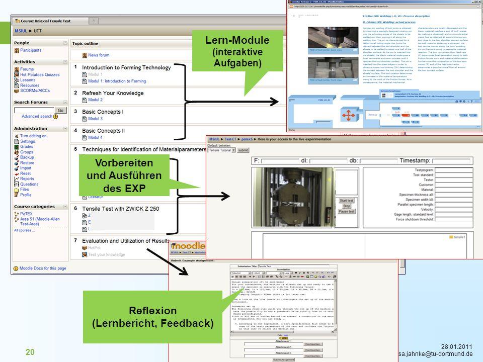 Lern-Module (interaktive Aufgaben)