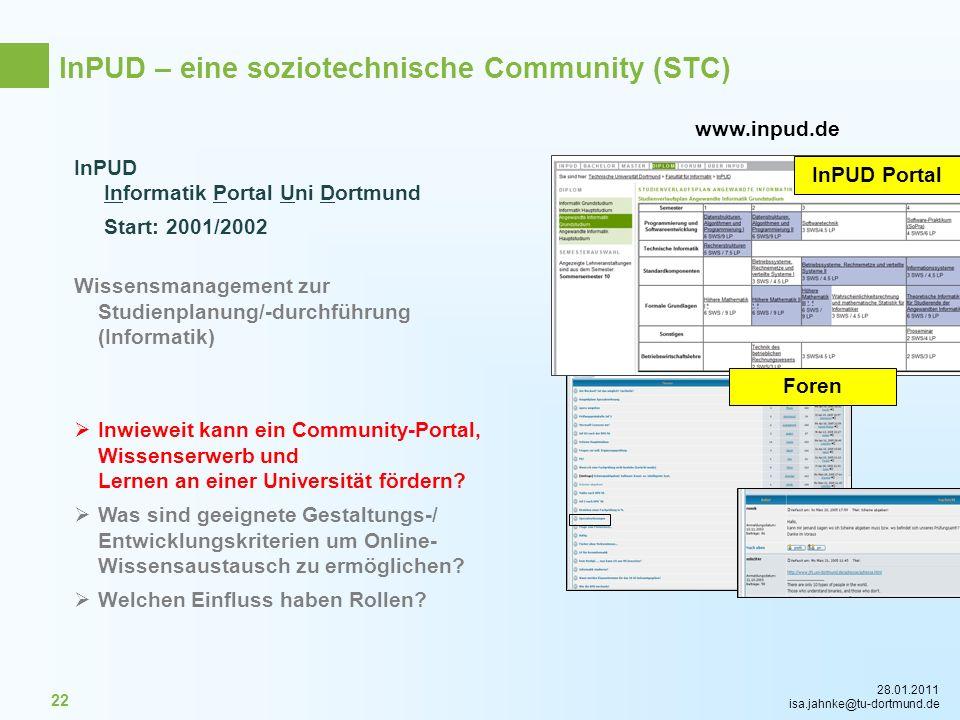 InPUD – eine soziotechnische Community (STC)