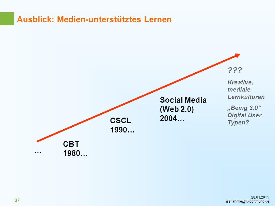 Ausblick: Medien-unterstütztes Lernen