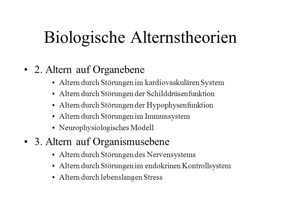 Biologische Alternstheorien