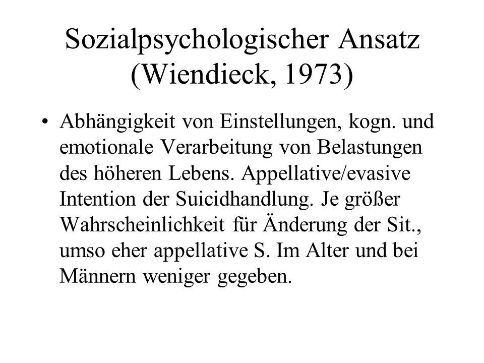 Sozialpsychologischer Ansatz (Wiendieck, 1973)