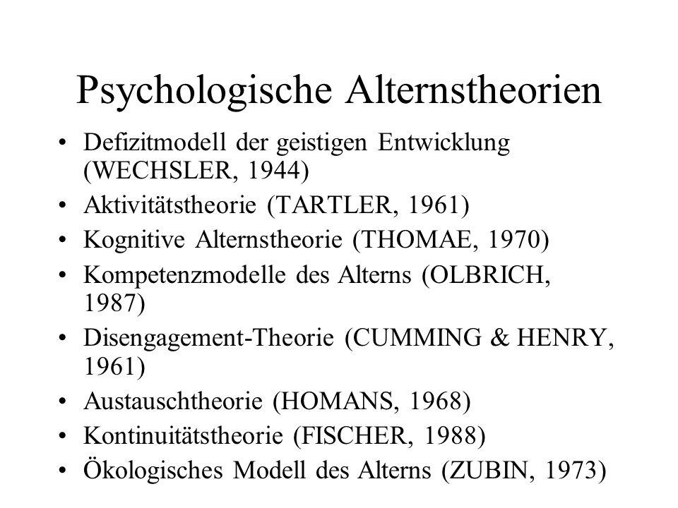 Psychologische Alternstheorien