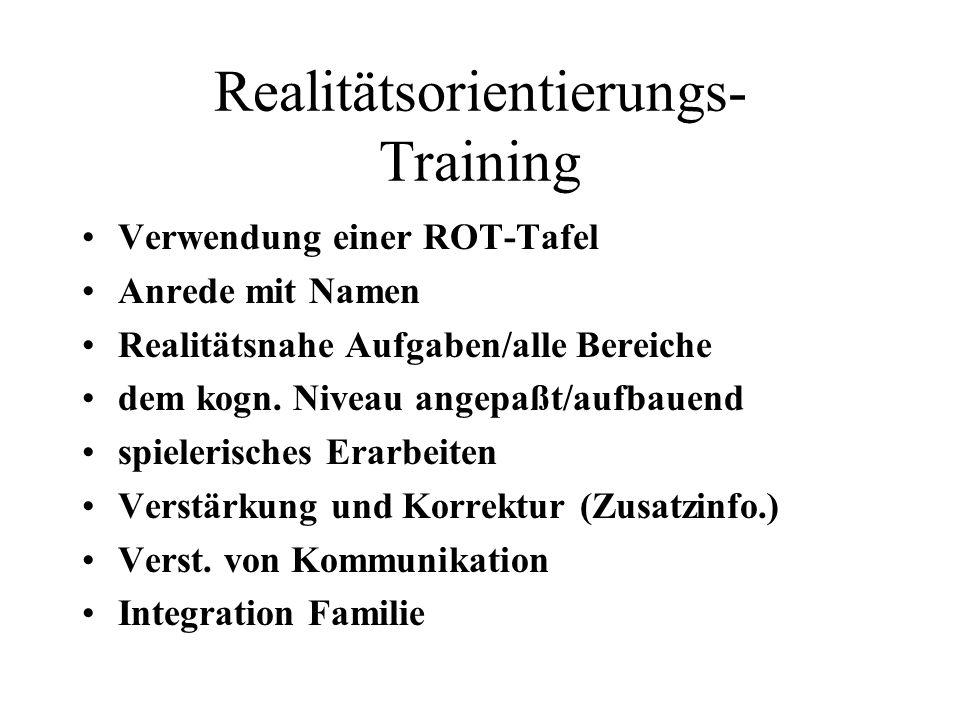Realitätsorientierungs- Training