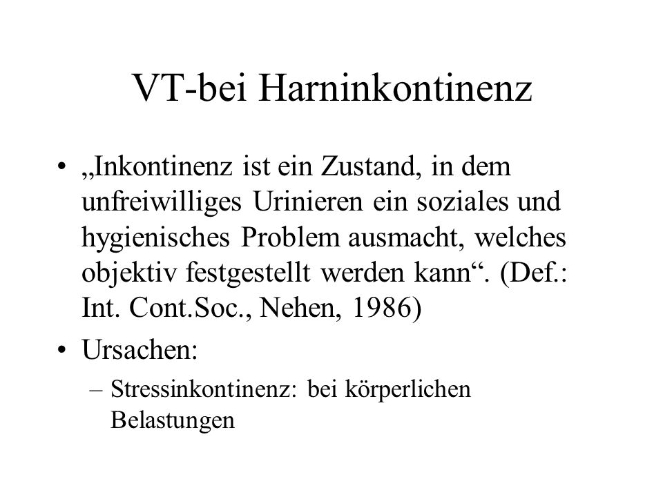 VT-bei Harninkontinenz