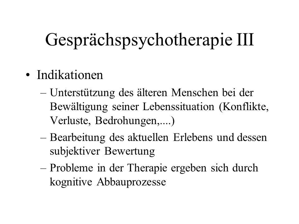 Gesprächspsychotherapie III