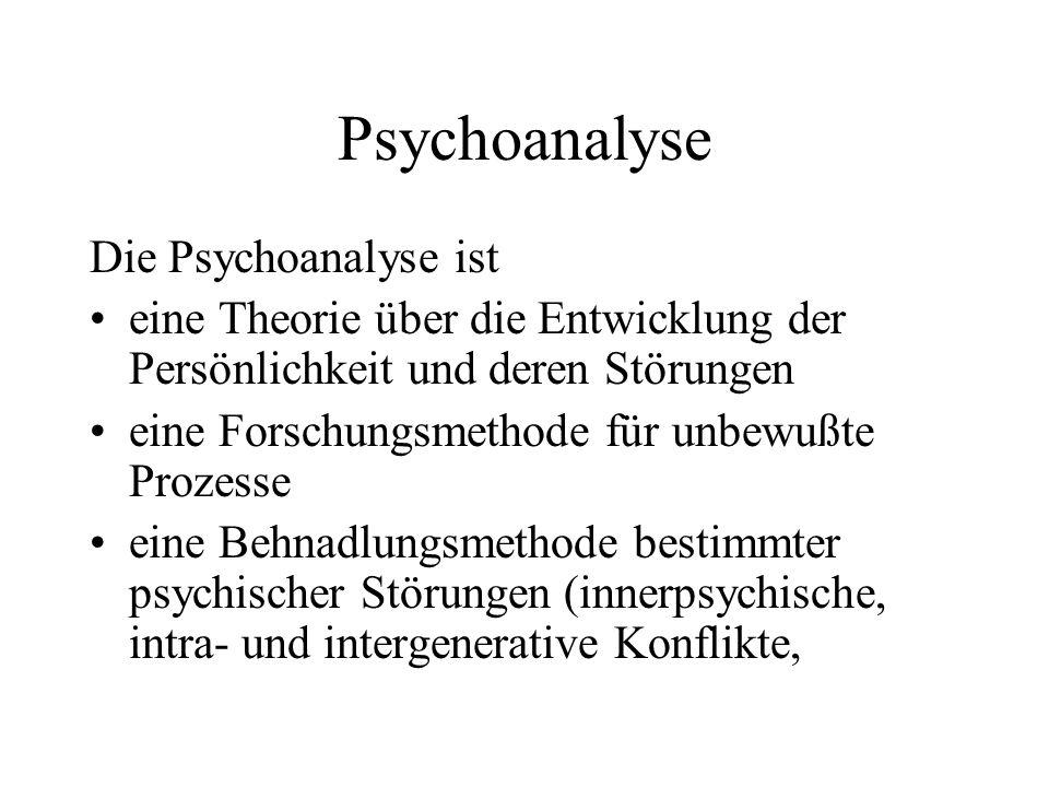 Psychoanalyse Die Psychoanalyse ist