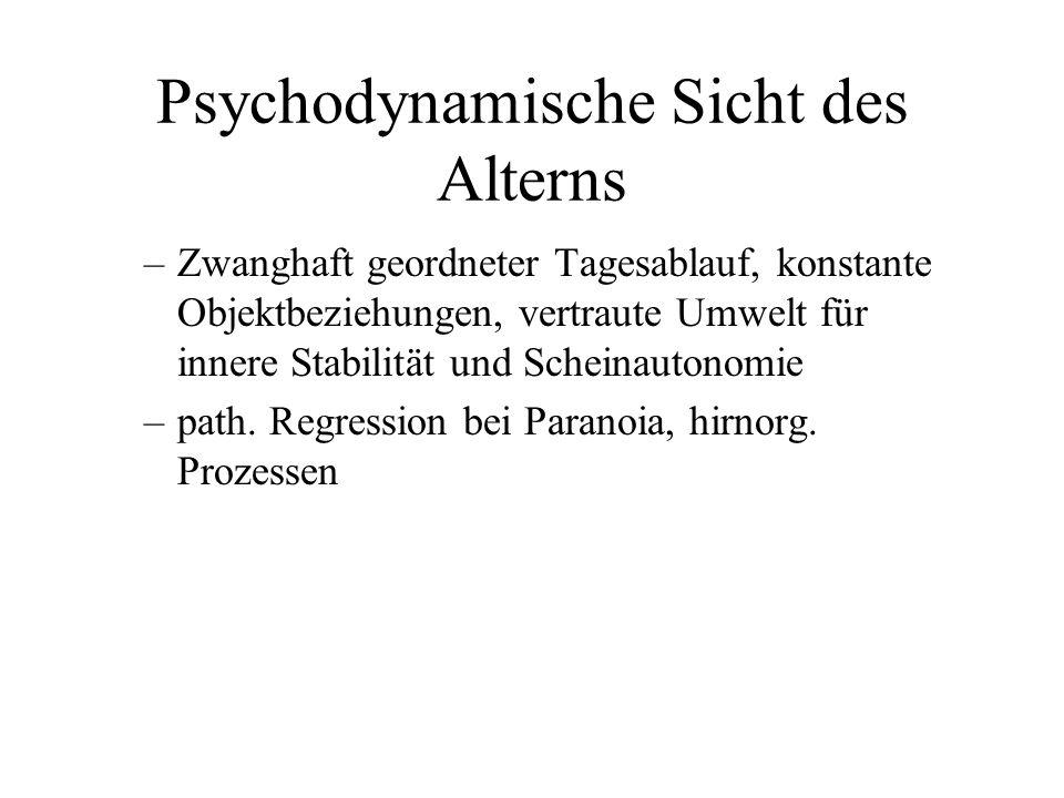 Psychodynamische Sicht des Alterns