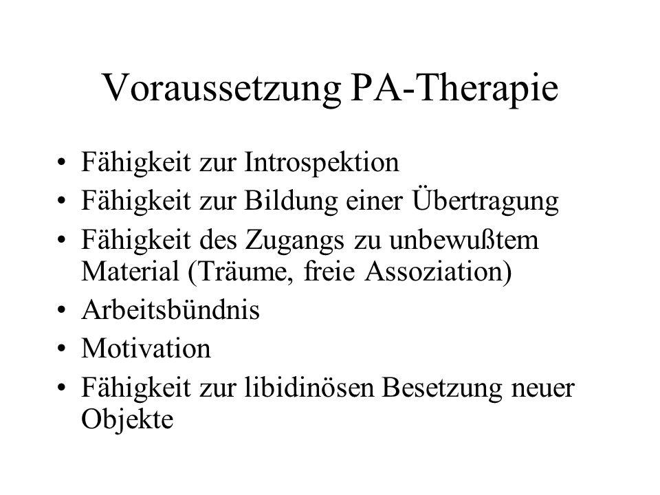 Voraussetzung PA-Therapie