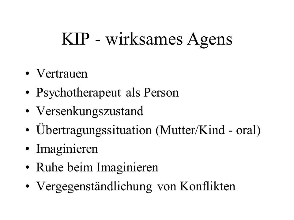 KIP - wirksames Agens Vertrauen Psychotherapeut als Person