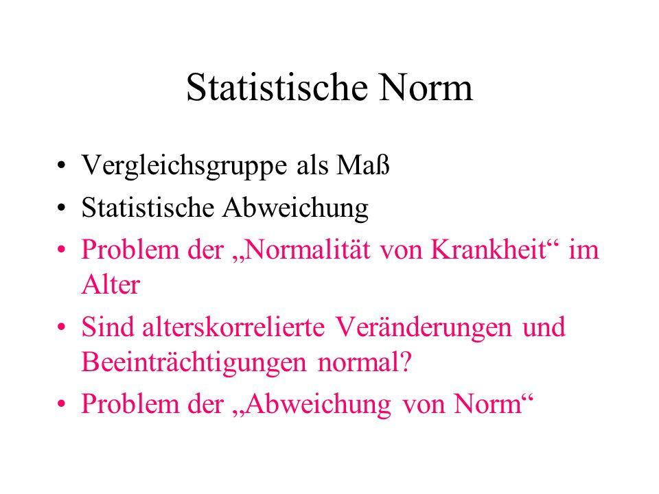 Statistische Norm Vergleichsgruppe als Maß Statistische Abweichung